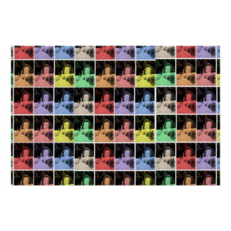 poster print matryoshka rainbow disco