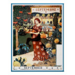 Poster/Print: Month of  September - Septembre Poster