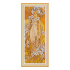 Poster/Print: Mucha - Flowers - Lily Poster