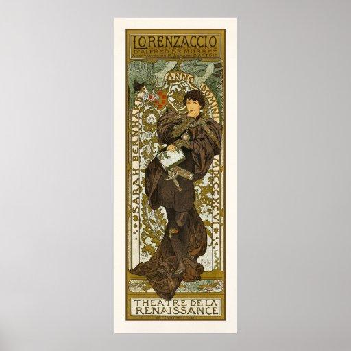 Poster/Print: Mucha - Lorenzaccio - Art Nouveau Poster