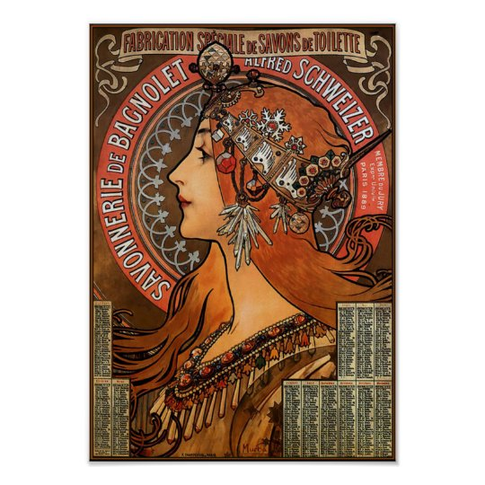"Poster/Print: Mucha - ""Savonnerie de Bagnolet"" Poster"