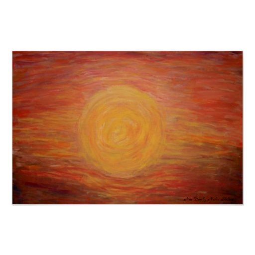 """Poster Print of  """"New Day"""" by Artist Mahri Shelton"""