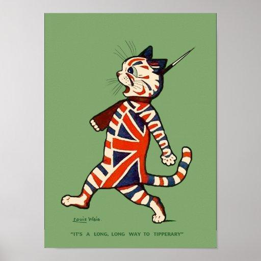 Poster/Print: Patriotic Cat