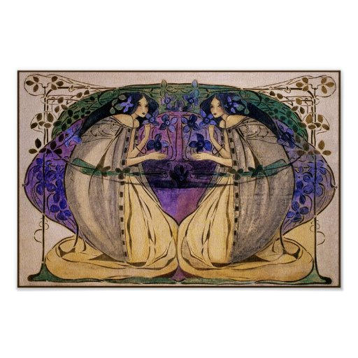 Poster Print: Spring by Frances Macdonald