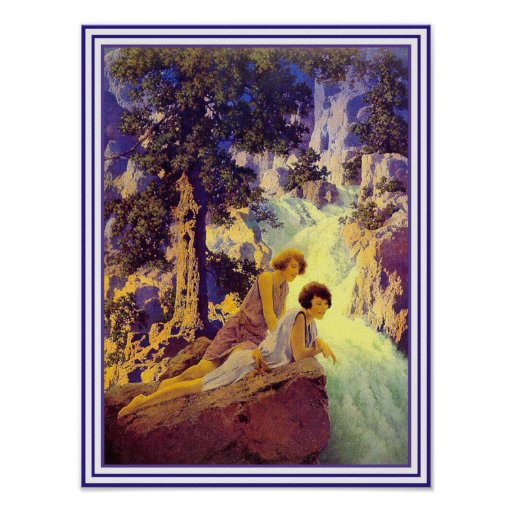 Poster/Print: Waterfall - by Maxfield Parrish