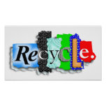 """Poster:  """"RECYCLE"""" Poster"""