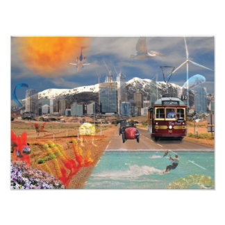 Poster  REFLECTIONS OF OZ  Mountain to the Sea Art Photo