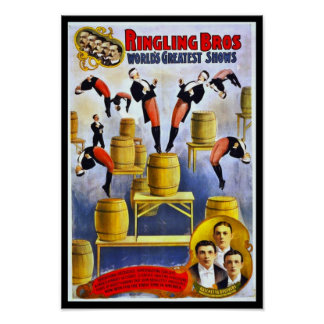Poster Ringling Brothers Circus Raschetta Brothers Print