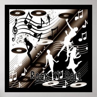 Poster Rock 'N' Roll Dance Music