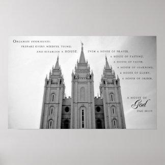 Poster - Salt Lake City Utah LDS Temple