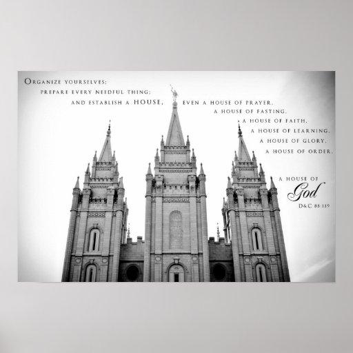 Poster - Salt Lake City Utah LDS Temple 2