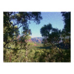 Poster, Seurat Style, Wood Chute Canyon, AZ