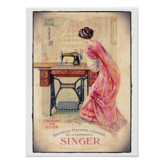 "POSTER ""SEWING MACHINE """