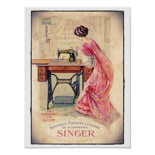 """POSTER """"SEWING MACHINE """""""