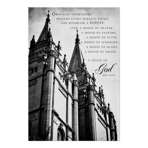 Poster-SLC LDS Temple 3 Poster