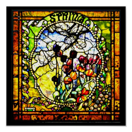 Poster-Stained Glass-Louis Tiffany 101 Poster