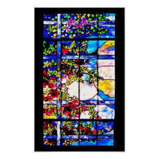 Poster-Stained Glass-Louis Tiffany 117 Poster