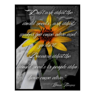 Poster, Sunflower Howard Thurman Quote Poster