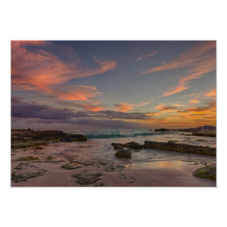 Poster - Sunrise over Cancun, Mexico