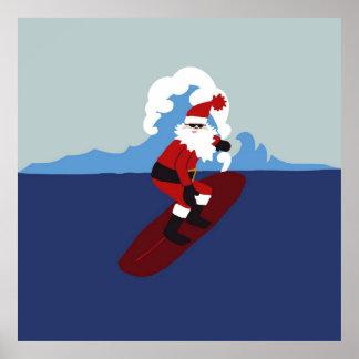 Poster- Surfing Santa! Poster