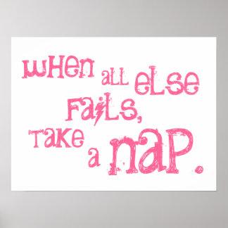 Poster - take a nap