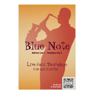 Poster Template Event Jazz Band