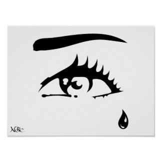 "Poster ""the Eye"" 60.96x50.8cm by Die"
