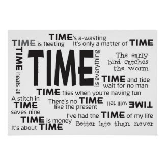 Poster - Time Proverbs