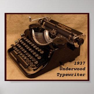 Poster - Vintage 1937 Underwood Typewriter