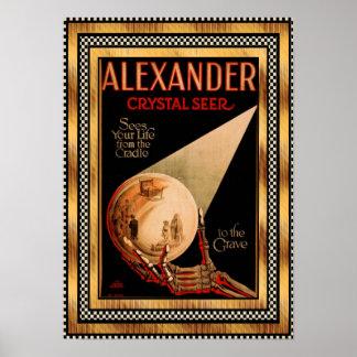 Poster Vintage Alexander Crystal Seer theatre Poster