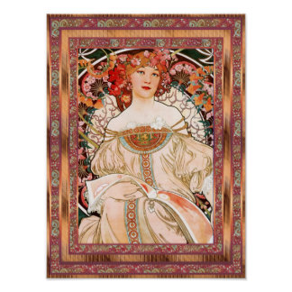 Poster Vintage Art Alfons Mucha F Champenois