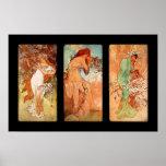 Poster Vintage Art Alfons Mucha Panel Art Nouveau Poster