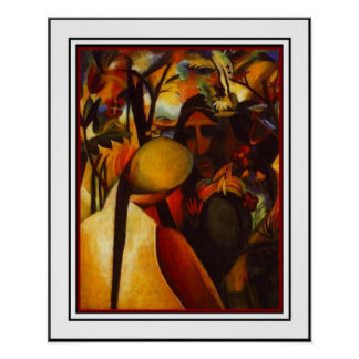 Poster Vintage Art August Macke Native Americans 2