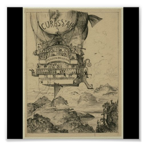 Poster-Vintage Art-Hot Air Balloons 2 Poster
