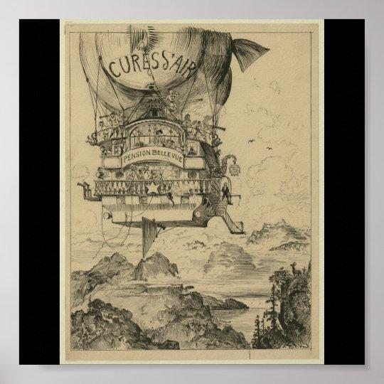 Poster-Vintage Art-Hot Air Balloons 2 Poster