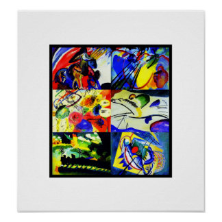 Poster Vintage Art Kandinsky Collage