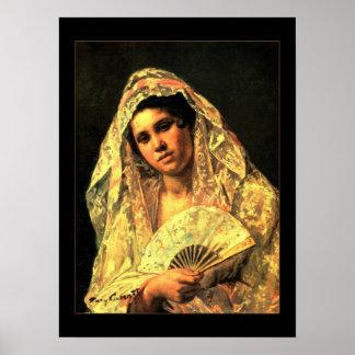 Poster Vintage Art Spanish Woman