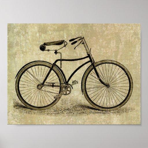Poster:  Vintage bicycle