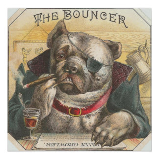 Poster Vintage Dog Bouncer Bar