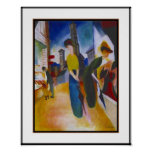 Poster Vintage Macke Two women in front of a shop