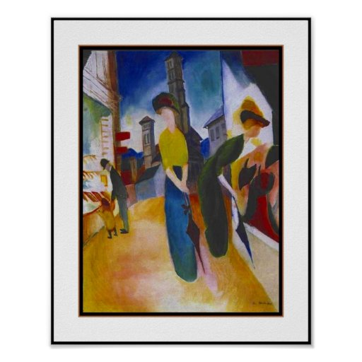 Poster Vintage Macke Two women in front of