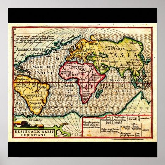 Poster-Vintage Maps-Jodocus Hondius 6 Poster