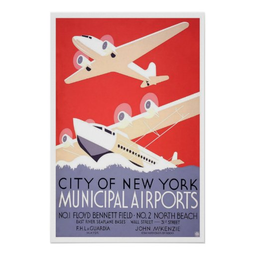 Poster-Vintage New York City Airport