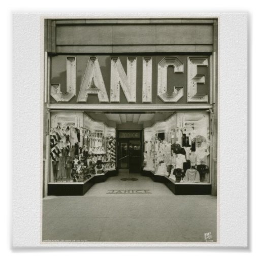 Poster-Vintage-New York Janice Store