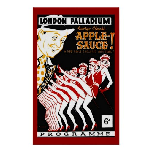 Poster Vintage Pop Art 1940 S Palladium Applesauce