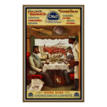 Poster Vintage Pullman Train Dining Cars