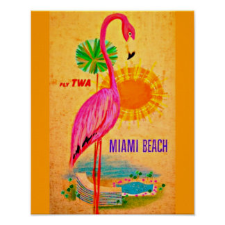 Poster-Vintage Travel Art-Miami Beach Poster