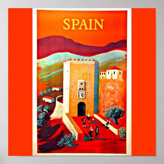 Poster-Vintage Travel Art-Spain 2 Poster