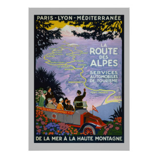 Poster - Vintage Travel La Route des Alpes