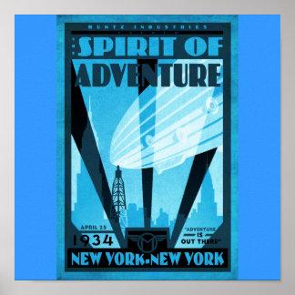 Poster-Vintage Travel-New York
